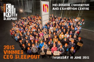 Vinnies CEO Sleepout 2015